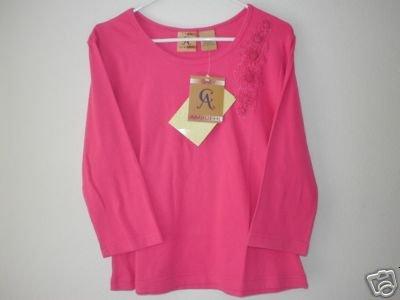 CINDY AMBUEHL 3/4 Sleeve Shirt w/ Floral Applique LRG L
