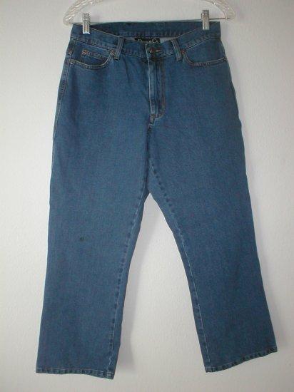 DENIM & CO 10 Petite Bootcut A Fit Jeans 10P MEDIUM M QVC