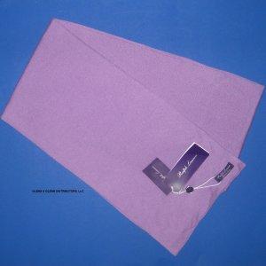 """NWT Ralph Lauren Purple Label Lavender Purple 100% Cashmere Scarf 9.5""""x76"""""""