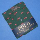 """NWT Polo Ralph Lauren Green """"Lucky Dice"""" Cotton Classic Fit Button Front Boxer - XL"""