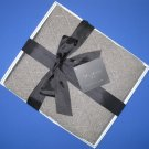 "NIB Tahari Home 100% Cashmere Heather Brown Diamond Pattern Throw Blanket - 50"" x 60"""