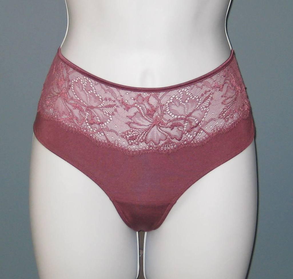 NWT Hanro of Switzerland Gala Collection Mauve Bikini Brief Panties #9616 - L