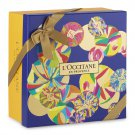 NEW L'Occitane En Provence Blue Abstract Circles Gift Wrapping Box Set