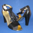 NIB Juicy Couture Black Erica T-Strap Tassel Sandals Pumps  - 9.5M