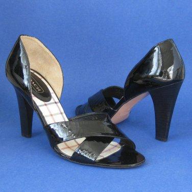 NEW COACH Bardot Black Patent Leather Sandals Pumps #A3947 - 10B
