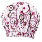 NIB Spa Sister Bouffant Shower Cap - Belleza Print