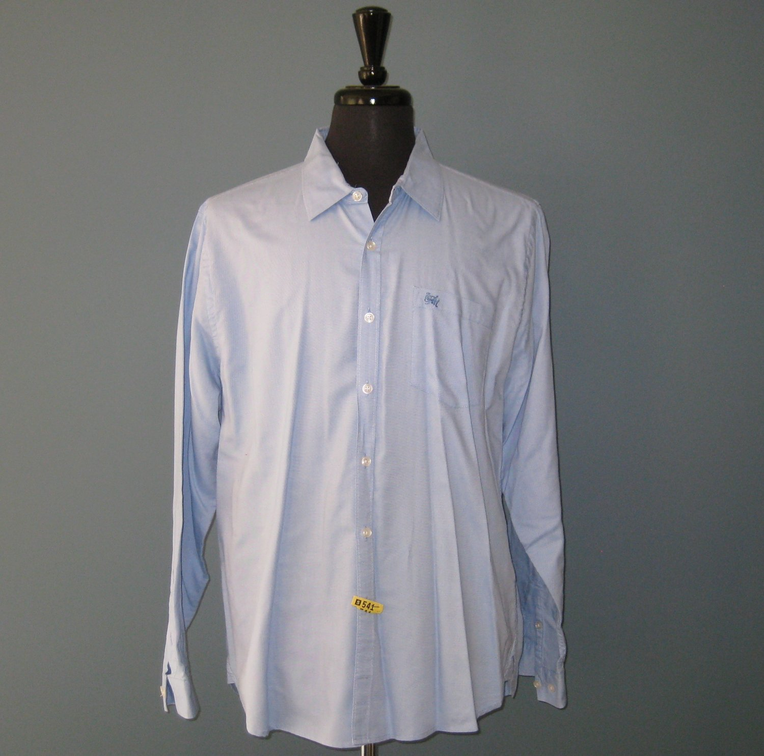 Pre-Owned 7 Seven For All Mankind Men's 100% Cotton Blue L/S Dress Shirt - XL