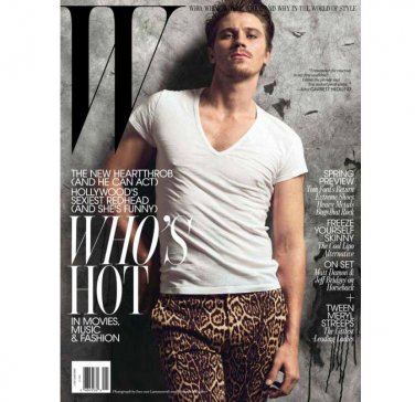 Pre-Owned W Magazine - Garrett Hedlund Cover - January 2011