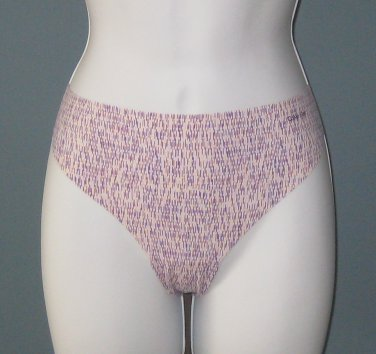NWT Calvin Klein Printed Purple Lines Invisibles Thong #D3507 - L