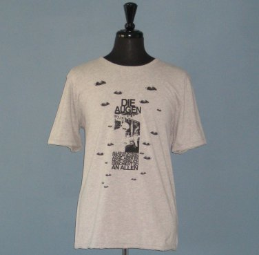 NWT French Connection Gray Die Augen (The Eyes) T-Shirt - XL