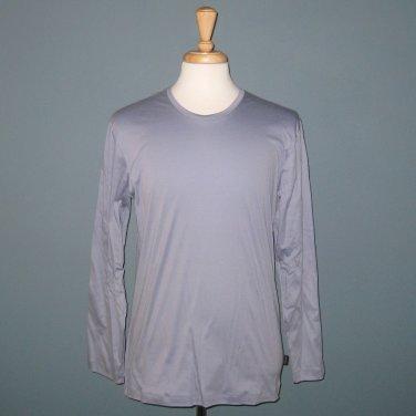 NWT Hanro of Switzerland Timber 100% Cotton Long Sleeve Shirt - Tempest - S
