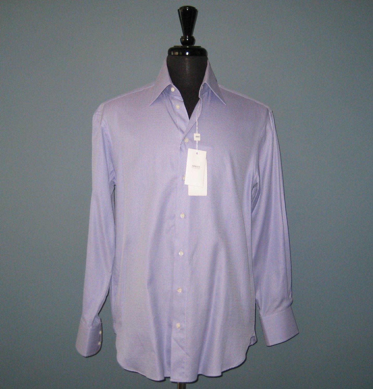 NWT Men's Armani Collezioni Light Purple 100% Cotton L/S Dress Shirt - 15/38