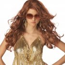 Sexy Super Model Adult Costume Wig Auburn Color #70498