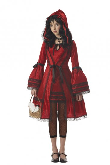 Gothic Strangeling Red Riding Hood Tween Child Costume Size: Large #04022