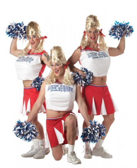 Drag Queen Varsity Cheerleader Adult  Costume #00967