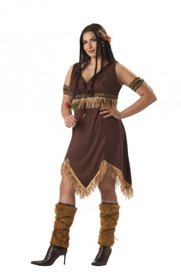 Thanksgiving Indian Princess Pocahontas Adult Plus Size Costume: 2X-Large #01666
