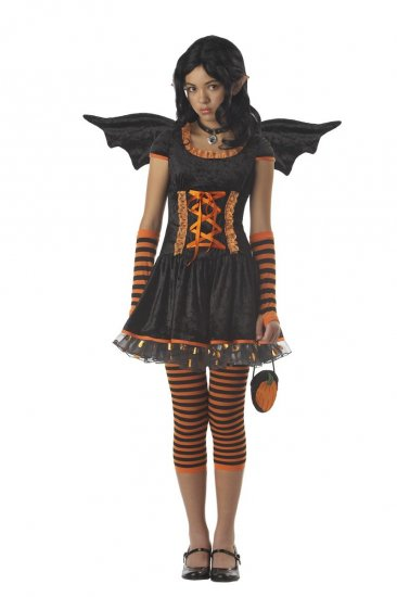 Punk Rock Monster Hight Strangeling Pumpkin Pixie Tween Child Costume Size: Large #04024