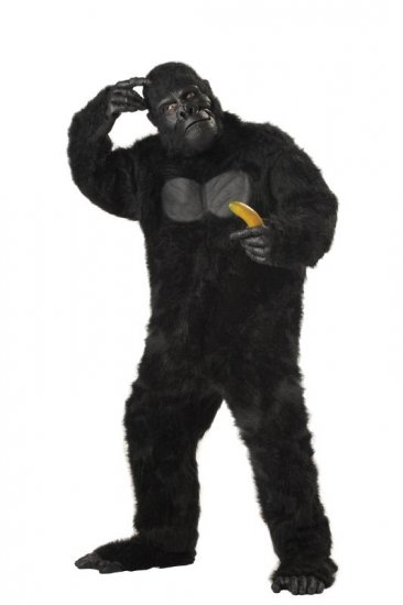 King Kong Deluxe Gorilla Monkey Adult Costume #01010_Black