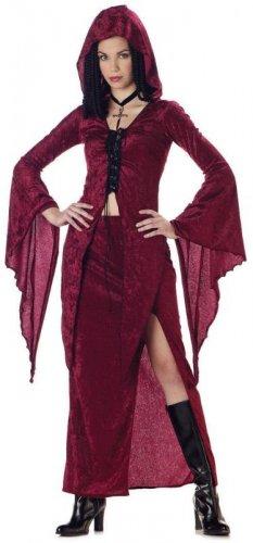 Dark Gothic Vampire Maiden of Darkness Teen Costume Size: Jr (3-5) #05093_Burgundy