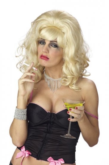 Demented Trailer Trash Housewife Adult Costume Wig #70268