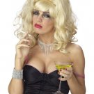 Women Blonde White Trash Drunk Housewife Costume Wig