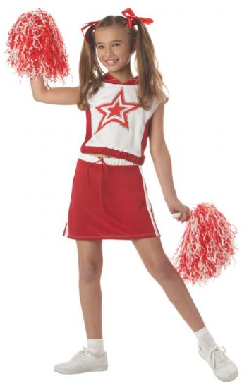 Superstar Cheerleader Patriotic Child Costume Size: Small #00320