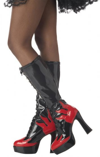 Punk Rock Flame Platform Adult Costume Shoes Size: Medium