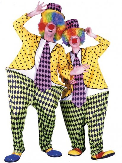 Circus Hoop Clown Adult Costume #00957