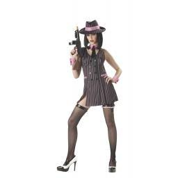 Hitgirl Mobster Adult Costume Size: Medium #01062