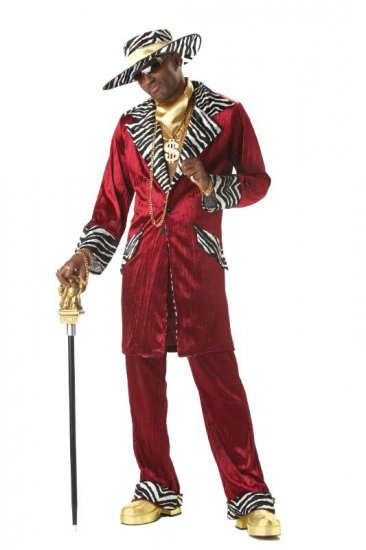 Pimp Sweet Daddy Beaujolais  Adult Costume Size: Large #00819