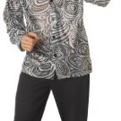 Groovy Disco Shirt With Wig Adult Costume Size: X-Large #00984