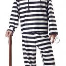 Jailbird Convict Prisoner Adult Costume Size:  Medium #00801