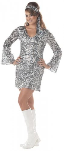 70's Disco Diva Adult Plus Size Costume: 2X-Large #01660