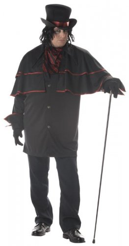 Night Stalker Vampire Dracula Adult Plus Size Costume #01652