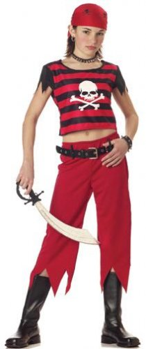 Hip Punk Pirate Child Costume Size: Large #00507