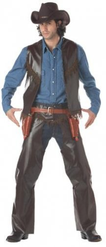 Cowboy Gun Slinger Adult Costume Size: Small