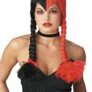 Schizo Gothic Braided Adultl Costume Wig #70413