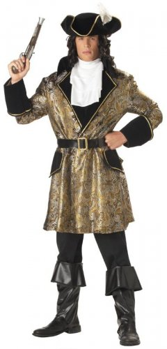 Captain  Hook Baroque Pirate Adult Costume #01020