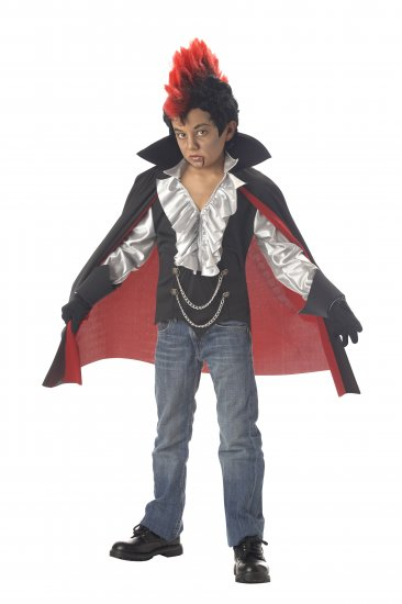 Punk Rock Rockin Vampire Child Costume Size: X-Large