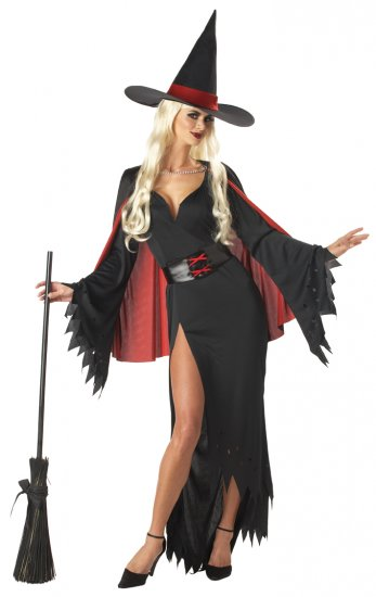 Sexy Dark Gothich Scarlet Witch Adult Costume Medium #01024