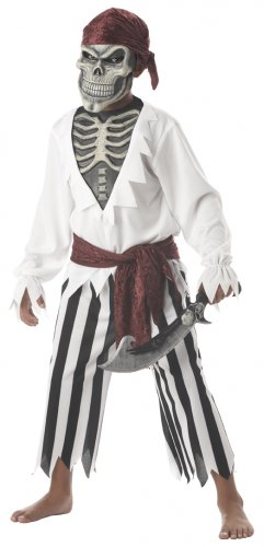 Pirate Barnacle Bones Child Costume Size: Large #00308