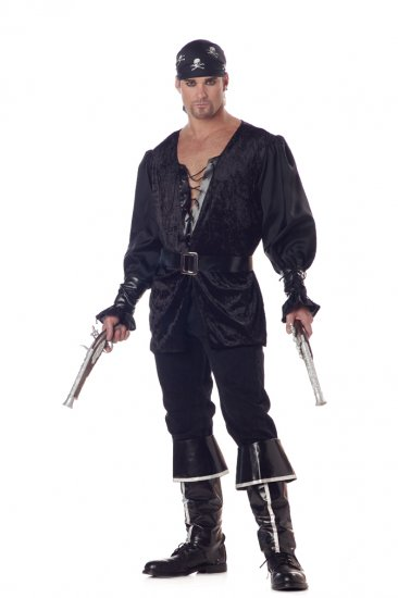 Carribean Buccaneer Blackheart the Pirate Adult Costume Size: Large #01542