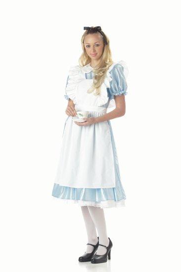 Classic Alice In Wonderland Women Adult Costume Size  Medium #01191