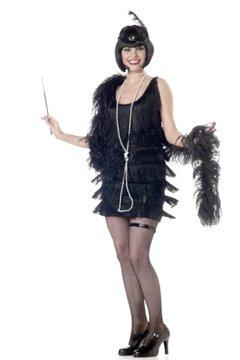 Fashion Flapper Adult Costume Size: Medium #00837_Black