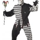 Evil Jester Circus Clown Joker Plus Size Adult Costume #01627