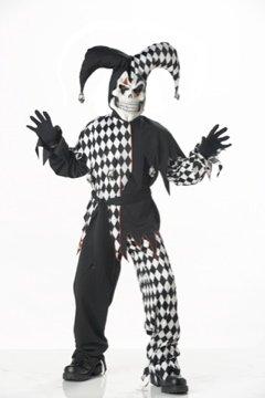 Evil Jester Joker Circus Clown Child Costume  Size: Medium #00217