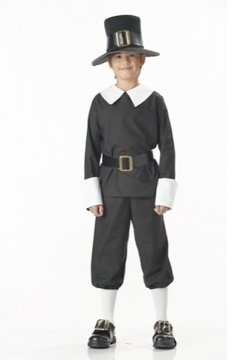 Thanksgiving Colonial Pilgrim Boy Child Costume Size: X-Small #00557