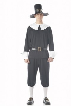 Colonial Pilgrim Man Thanksgiving Adult Costume Size: Small # 01137