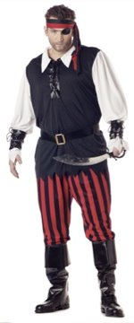 Buccaneer Cutthroat Pirate Plus Size Adult Costume #01611