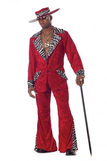 Pimp Daddy Hustler Adult Costume Size: Large #00839_Red